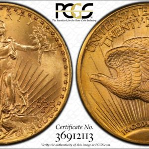 1923-D Saint-Gaudens Twenty Dollar Gold MS65 PCGS Glorious Surfaces