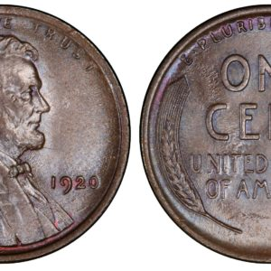 1920 Lincoln Cent, MS65BN PCGS Pop 9/0, Ex: 'Abe's Coloring Book'
