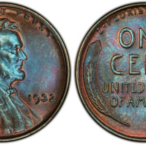 1932 Cent, Gorgeous Steel-Blue MS65BN PCGS Pop 6/0, Ex: 'Abe's Coloring Book'