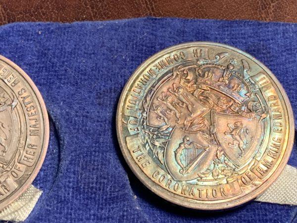 John Pinches Seven-Piece British Monarchy Silver Medals Set