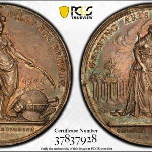 Great Britain 1736 Jernegan Cistern Silver Medal, Betts-169, Eimer-537, AU58 PCGS