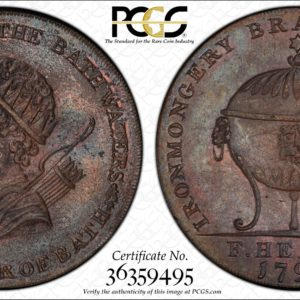 Great Britain 1794 Halfpenny Token, Somersetshire, Bath, Bladud-Urn DH-39 MS64BN PCGS