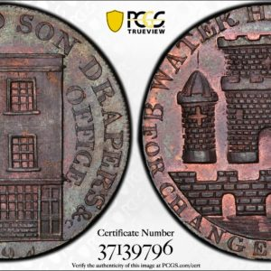 Great Britain 1794 Halfpenny Token, Somersetshire, Bridgewater, Holloway Drapers-Bridge Water MS63BN PCGS