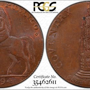 Great Britain 1794 Halfpenny Token, Warwickshire, Coventry, Lady Godiva DH-249 MS64BN PCGS