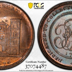 Great Britain 1797 Halfpenny Token Middlesex, Skidmore's Aldersgate DH-649 MS64RB PCGS