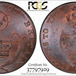 Great Britain ND (ca 1790) Halfpenny Token, Suffolk, Bury, Plough Fleece-Commerce DH-26 MS64+BN PCGS