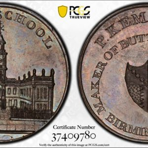 Great Britain ND (ca 1790) Halfpenny Token, Warkwickshire, Birmingham, Free School-Kempson's DH-200 MS64BN PCGS