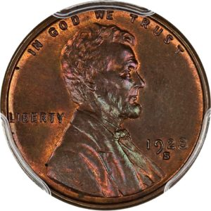 1928-S Lincoln Cent MS64RB PCGS CAC Elusive Date