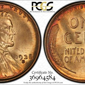 1938-S/S/S Lincoln Cent Gorgeous MS65RB FS-502 PCGS
