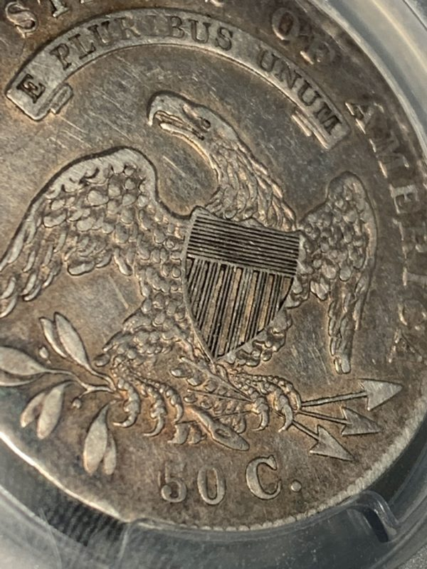 1836 Capped Bust Half, Early-State 50/00, O-116, R.2, VF35 PCGS Nice for Grade