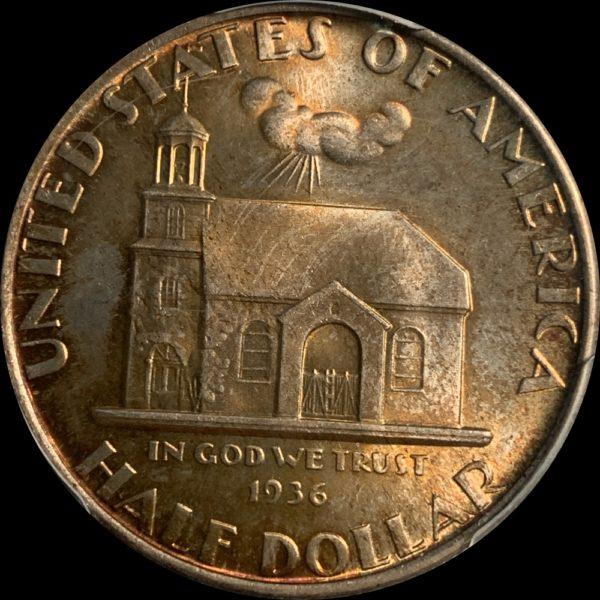 1936 Delaware Commemorative Half Dollar, Stunning Caramel-Gold MS67 PCGS CAC