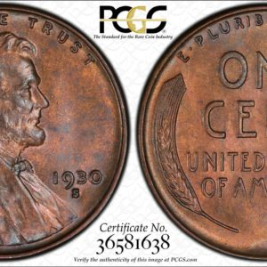 1930-S Lincoln Cent, Tough S-Mint, MS64RB PCGS, Lustrous 'Coral Red'