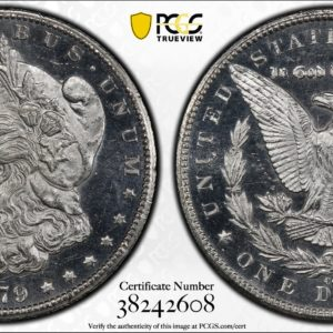 Well-Mirrored 1879-CC Morgan Dollar MS64PL PCGS, Thickly Frosted Surfaces!