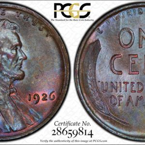 1926 Lincoln Cent Gorgeous Toned MS65BN, Ex: Winged Liberty Set