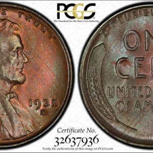1935-S Lincoln, Lushly Toned MS65BN PCGS, Low-Pop Post-1933 Issue