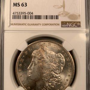 Brilliant VAM-9 'CC Right' 1878-CC Morgan Dollar, MS63 NGC