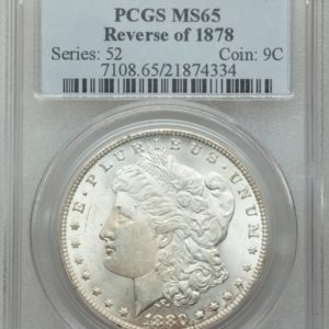 Key VAM-4 1880/79-CC Reverse of '78 Morgan Dollar, Brilliant MS65 PCGS