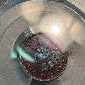 1882 Indian Cent, 'Pristine Purple Proof' PR66BN PCGS