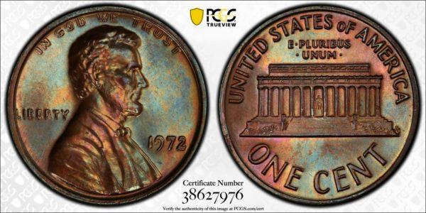 1972 Doubled Die Obverse (DDO) Cent, Top-Pop MS66BN PCGS, 'Pastel Prize'
