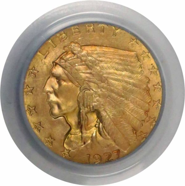 1927 Quarter Eagle, Pleasingly Toned MS63 PCGS