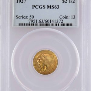 1927 Quarter Eagle, Pleasingly Toned MS63 PCGS