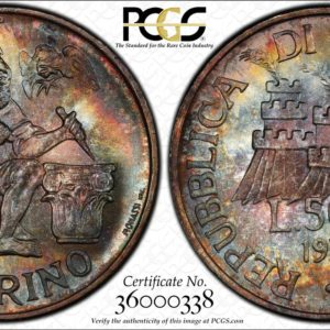 San Marino 1975 500 Lire Numismatic Agency MS67 PCGS Beautiful Color