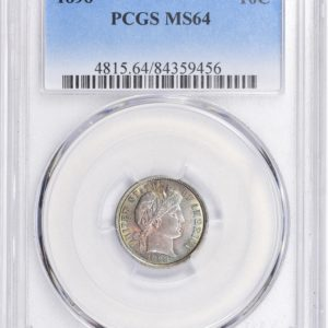 1898 Barber Dime, Pastel-Toned MS64 PCGS