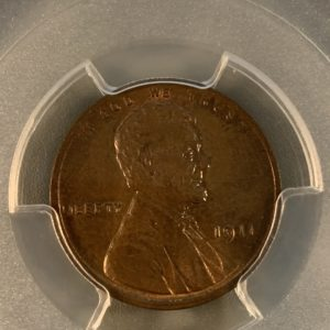1911 Lincoln Cent, Sharply Struck, Lustrous MS64BN PCGS