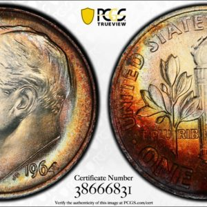 10c 1964 MS67 PCGS 'Fiery Cauldron' 38666831 Trueview