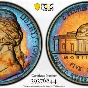 1971-S Jefferson Nickel PR67 PCGS 'Azure Blue'