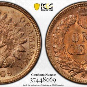 1909-S Indian Cent, Gorgeous Key Date, QC Unc Details at PCGS