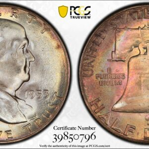 1953-S Franklin Half, MS66+ PCGS CAC