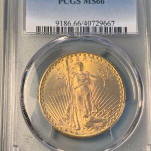 1927 Saint-Gaudens Double Eagle, Lustrous MS66 PCGS Premium Gem #2