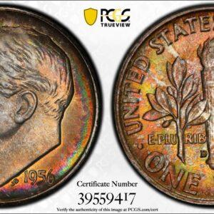 1956-D Roosevelt Dime MS67 PCGS 'Fireball'