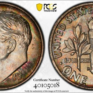 1957-D Roosevelt Dime Lovely Toned MS66 PCGS