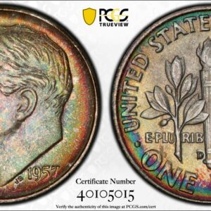 1957-D Roosevelt Dime MS67 PCGS 'Fields of Green'
