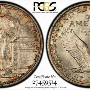 1917-D Type One Standing Liberty Quarter MS63FH PCGS 'Confetti' Toned