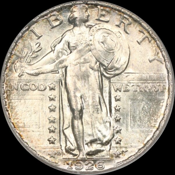 1926-D Standing Liberty Quarter, Lightly Toned MS64 PCGS