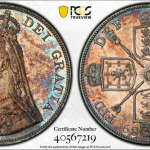 Great Britain Double Florin 1889 Inverted 1 AU58 PCGS