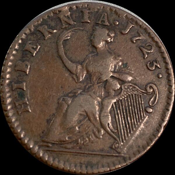 1723 Woods Hibernia Penny