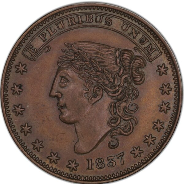 1837 HT-284 Hard Times Token George A. Jarvis MS64BN NGC