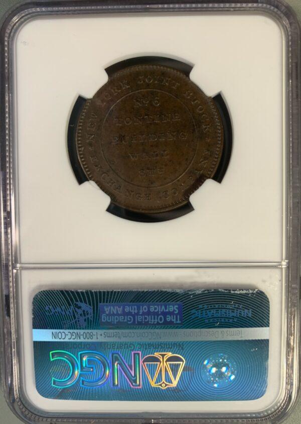 (1837) Merchants Exchange-Tontine HT-294 Hard Times Token MS64BN NGC
