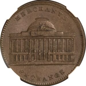 (1837) HT-294 Hard Times Token Merchants Exchange MS64BN NGC