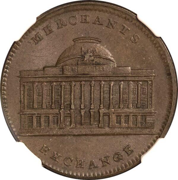 (1837) HT-294 Hard Times Token Merchants Exchange MS64BN NGC