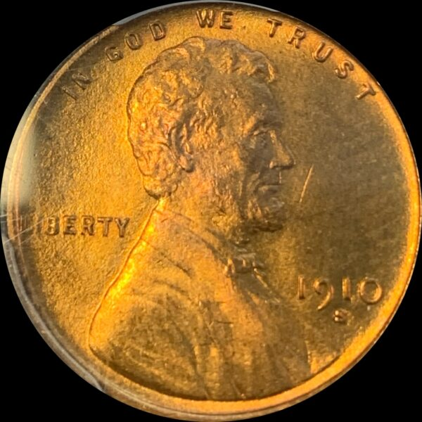 1910-S Lincoln Cent MS66RB PCGS