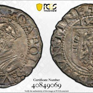 France-German States 1543 Carolus AU58 PCGS
