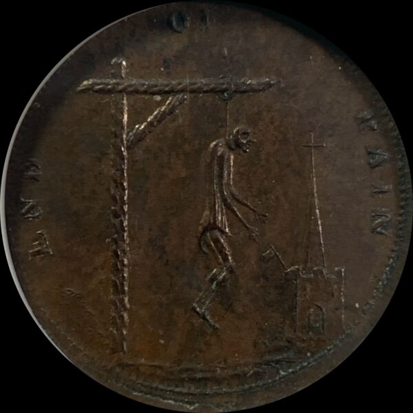 Great Britain Farthing Conder Token MS63BN NGC DH-1110 End of Pain-Pandora's Breeches