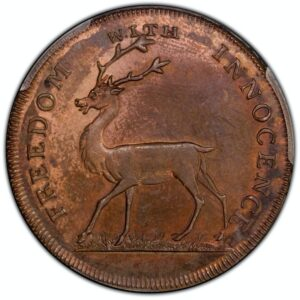 1796 Halfpenny Conder Token Middlesex DH-1041 MS64RB PCGS