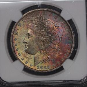 1885-O Morgan Dollar Amazing Toner MS61 NGC