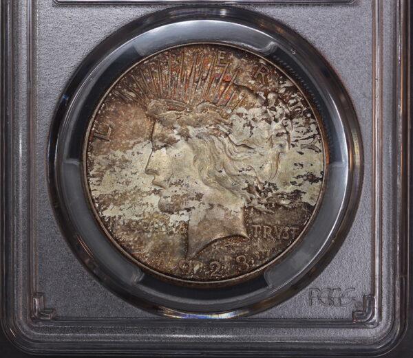 1923-S Peace Dollar, Toned MS63 PCGS